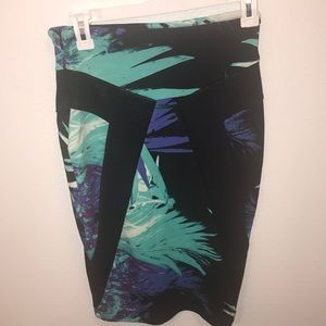 Black, purple and turquoise pencil skirt!